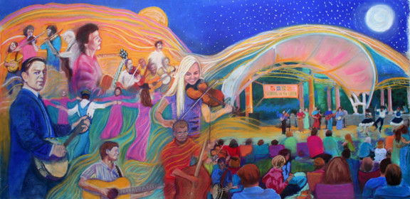 Proposed mural to honor history of Shindig on the Green